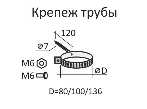 Водостоки металлические Артикул: 150/100 - хомут трубы...